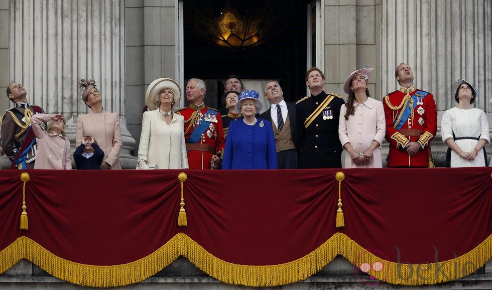La Familia Real Británica en Trooping the Colour 2013