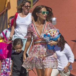 Paula Echevarría y Daniella Bustamante en la fiesta de fin de curso de la niña