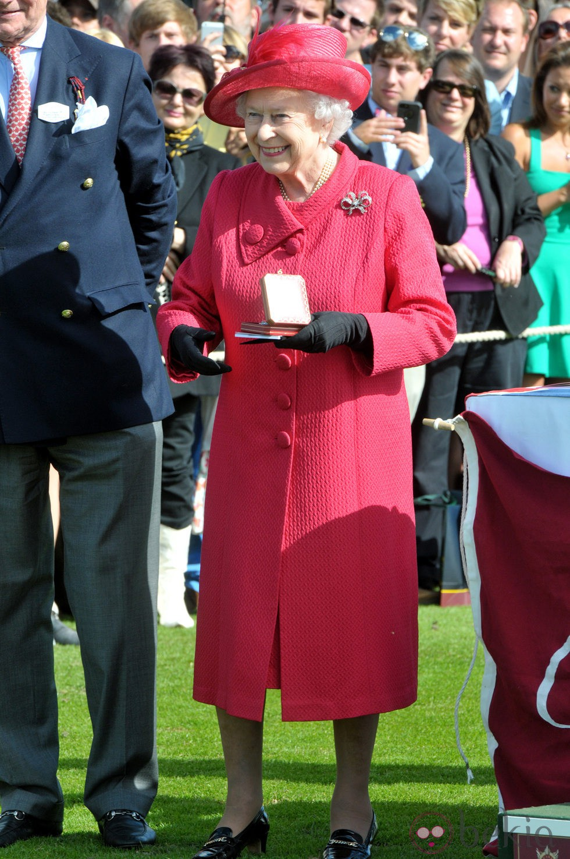 La Reina Isabel en la Copa de la Reina de Polo