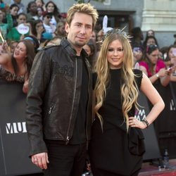 Avril Lavigne y Chad Kroeger en los MuchMusic Video Awards 2013