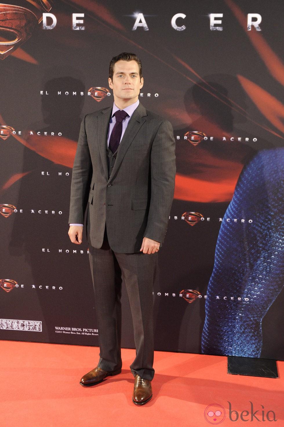 Henry Cavill en el estreno de 'El hombre de acero' en Madrid