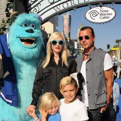 Gwen Stefani y Gavin Rossdale en el estreno de 'Monstruos University' en Los Angeles