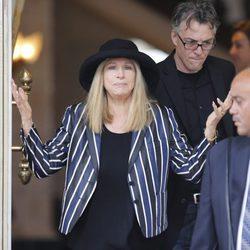 Barbra Streisand durante su llegada a Israel