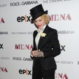 Madonna durante el estreno de 'Madonna: The MDNA Tour' en Nueva York
