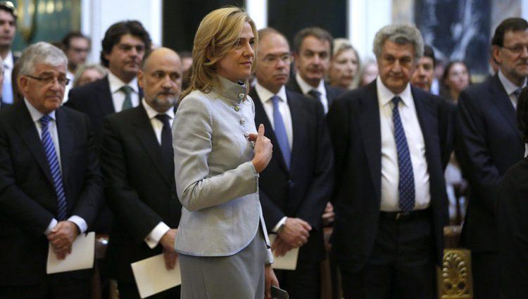 La Infanta Cristina en la misa conmemorativa del centenario del nacimiento del Conde de Barcelona