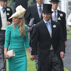 Autumn Kelly y Peter Phillips en Ascot 2013