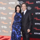 William Fichtner y Kymberly Kalil en la premiere de 'El llanero solitario' en Disneyland Resort