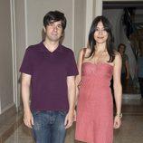 Marta Fernández y Eduardo Chapero-Jackson en la presentación de la novela 'Luisa y los espejos'