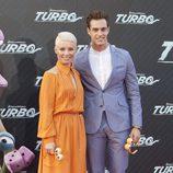 Soraya y Miguel Herrera en la presentación de 'Turbo' en Barcelona