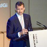 El Príncipe Felipe da un discurso en la entrega de los Premios Príncipe de Girona 2013