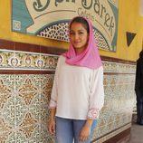 Hiba Abouk en la presentación de la serie 'El Príncipe' en Madrid