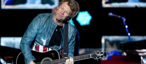Bon Jovi durante su concierto en Madrid