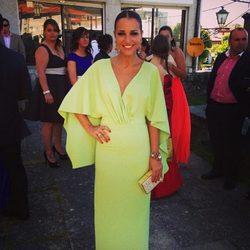 Paula Echevarría en la boda de su prima en Galicia