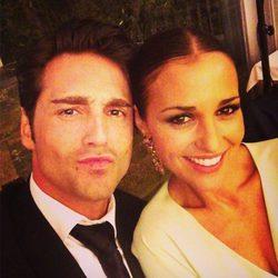 David Bustamante y Paula Echevarría en la boda de una prima en Galicia