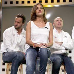 Sara Carbonero durante la presentación de la Copa Confederaciones 2013
