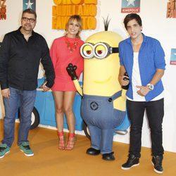 Florentino Fernández, Patricia Conde y Xuso Jones en el estreno de 'Gru 2. Mi villano favorito'