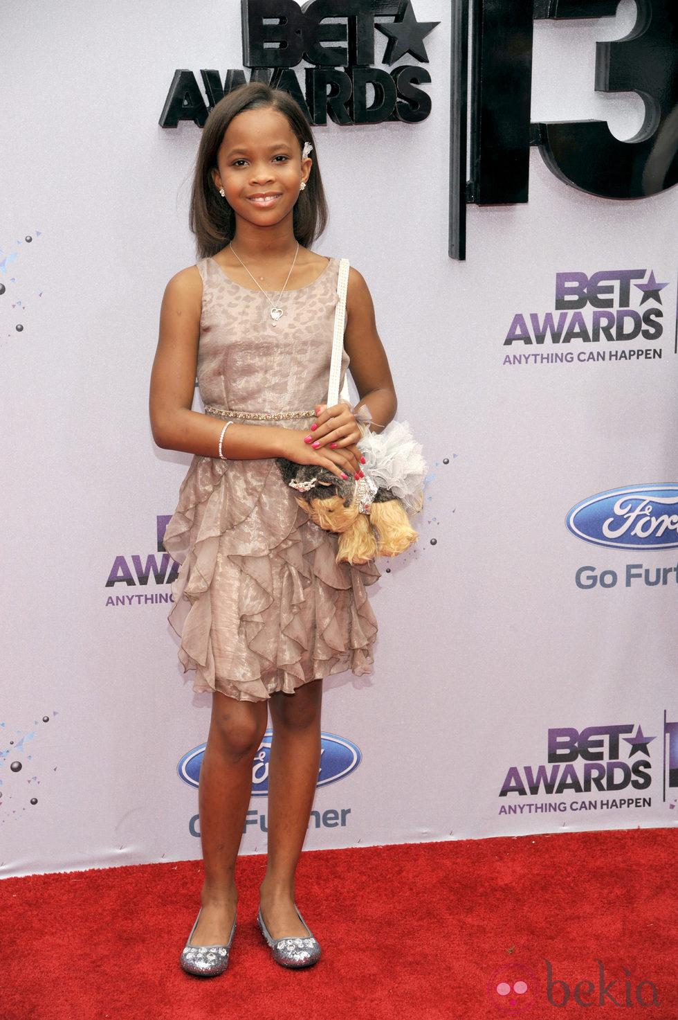 Quvenzhané Wallis en los BET Awards 2013