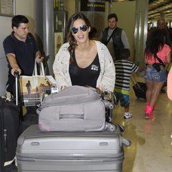 Sara Carbonero llega a Barajas tras su estancia en Brasil