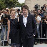 Natalia Vodianova y Antoine Arnault en la presentación de la colección de alta costura de Dior en París