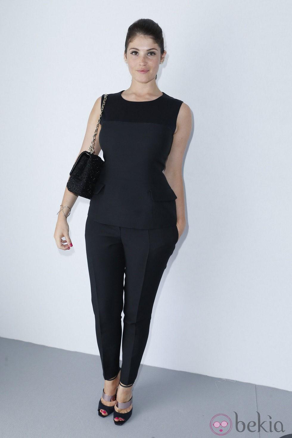 Gemma Arterton en la presentación de la colección de alta costura de Dior en París