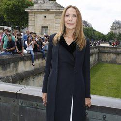 Marisa Berenson en la presentación de la colección de alta costura de Dior en París