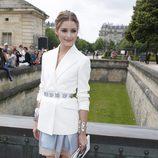 Olivia Palermo en la presentación de la colección de alta costura de Dior en París