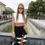 Anna Dello Russo en la presentación de la colección de alta costura de Dior en París