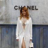 Rihanna en la presentación de la colección de alta costura en París