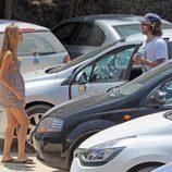 Carles Puyol y Vanesa Lorenzo de vacaciones en Ibiza