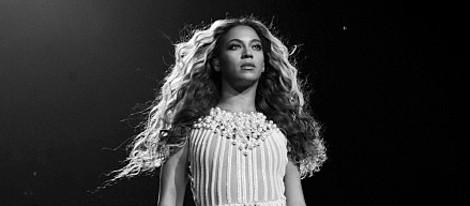 Beyoncé durante su actuación en el Staples Center de Los Angeles