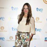 Eva González durante la final del programa 'Masterchef' en Madrid