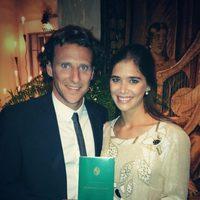 Diego Forlán y Paz Cardoso el día de su boda civil