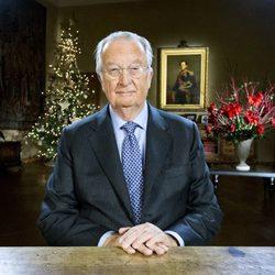 El Rey Alberto de Bélgica durante el discurso de Navidad 2012