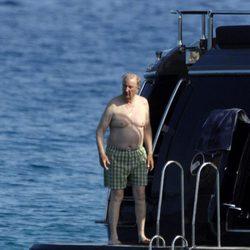 El Rey Alberto de Bélgica durante unas vacaciones en St. Tropez