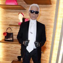 Karl Lagerfeld en la apertura de una nueva tienda Fendi en París