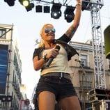 Leticia Sabater en su actuación en el Orgullo Gay de Madrid 2013