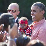 Barack Obama celebrando el Día de la Independencia en Estados Unidos