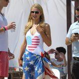 Paris Hilton celebrando el Día de la Independencia en Estados Unidos