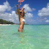 Heidi Klum celebrando el Día de la Independencia 2013 en Estados Unidos