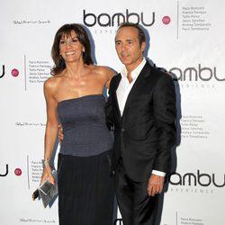 Pastora Vega y Juan Ribó en la fiesta del quinto aniversario de Bambú