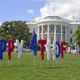 La Casa blanca decorada con motivos del Día de la Independencia 2013 en Estados Unidos
