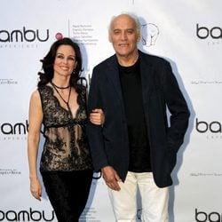 Silvia Marsó y Manuel de Blas acompañada en la fiesta del quinto aniversario de Bambú