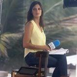 Sara Carbonero durante la cobertura de la Copa Confederaciones 2013