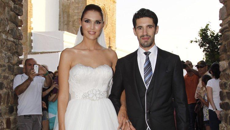 Alejandro Talavante y Yessica Ramírez el día de su boda