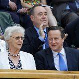 El Primer Ministro británico David Cameron en la final de Wimbledon 2013