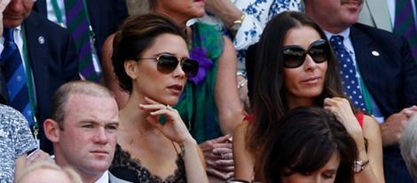 Wayne Rooney y Victoria Beckham en la final de Wimbledon 2013