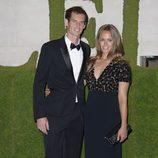 Andy Murray y su novia Kim Sears en la fiesta de celebración de su victoria en Wimbledon 2013