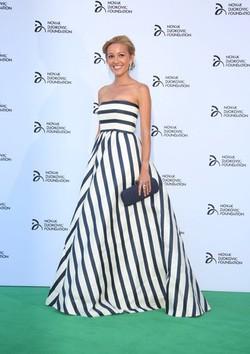 Jelena Ristic en una cena solidaria de la Fundación Novak Djokovic