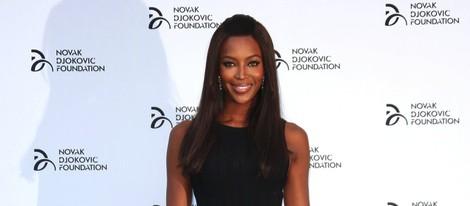 Naomi Campbell en una cena solidaria de la Fundación Novak Djokovic