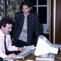 Concha García Campoy y Manuel Campo Vidal en los años 80